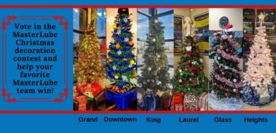 Masterlube Christmas decoration contest 2019