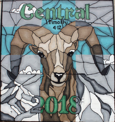 Central Catholic High mural 2018