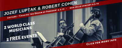 Jozef Luptak & Robert Cohen come to Billings 2019