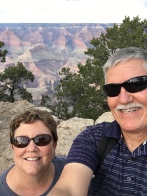 Jim started his healthy journey by hiking areas of the Grand Canyon this fall with his wife Terri.