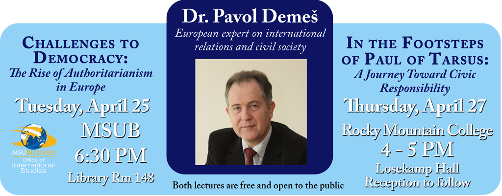 Pavol Demes lectures