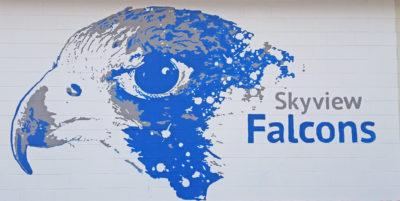 Skyview High School mural 2018